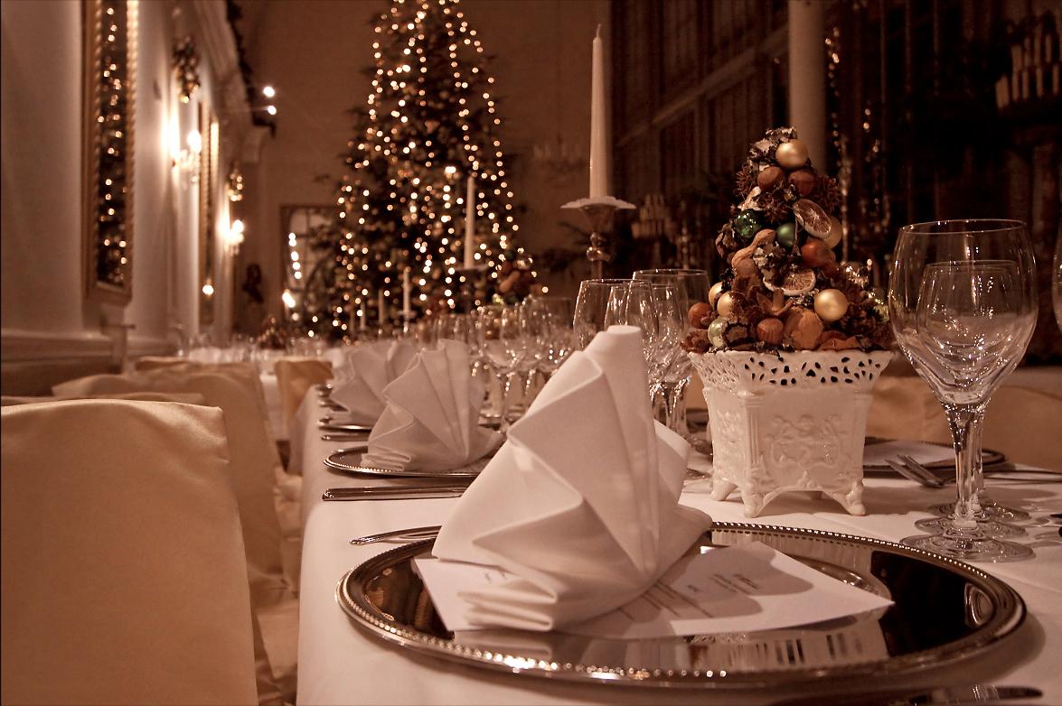 Weinachtsfeier, Schlosscafé im Palmenhaus