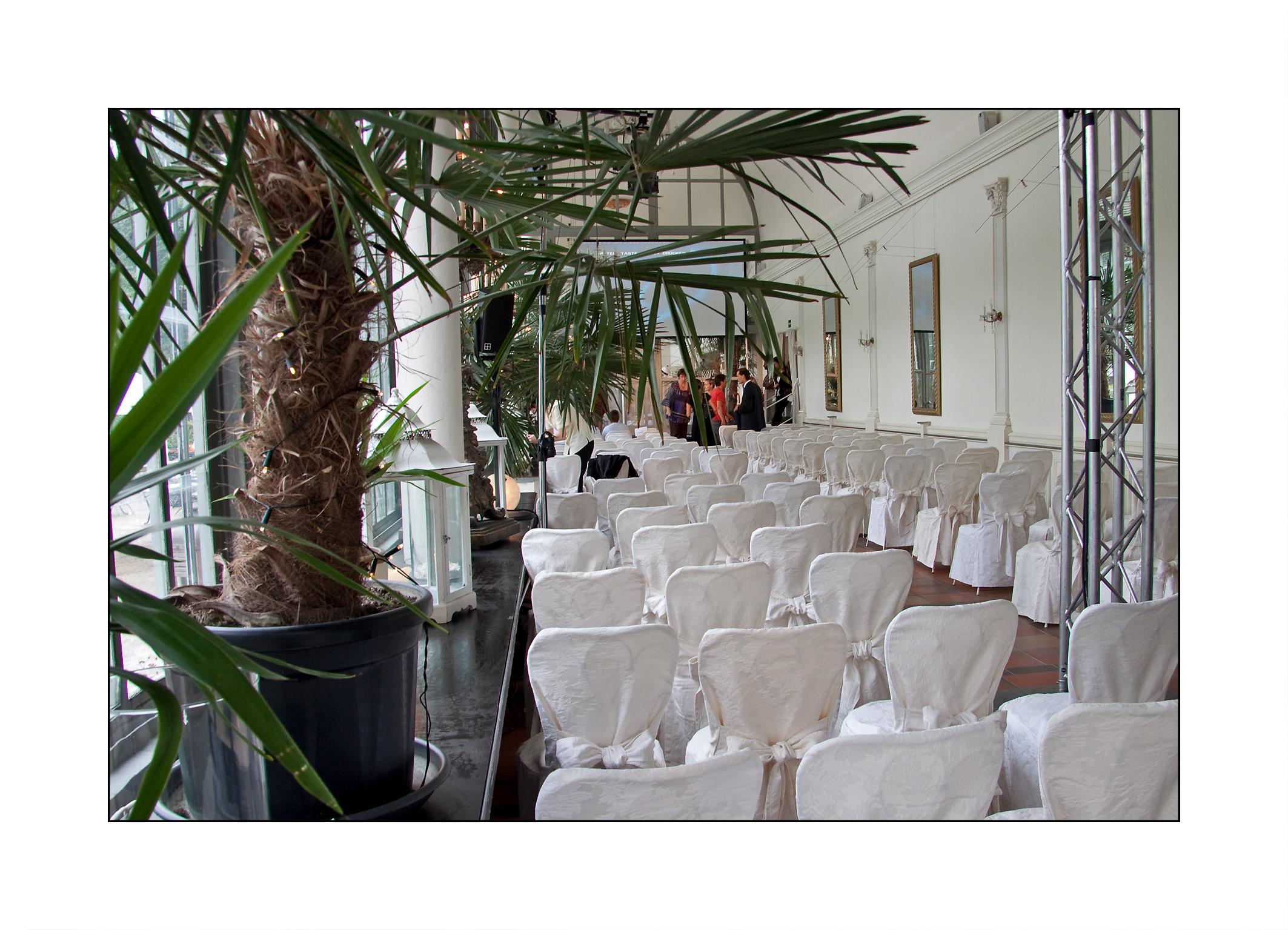 Firmenjubiläum,Schlosscafé im Palmenhaus