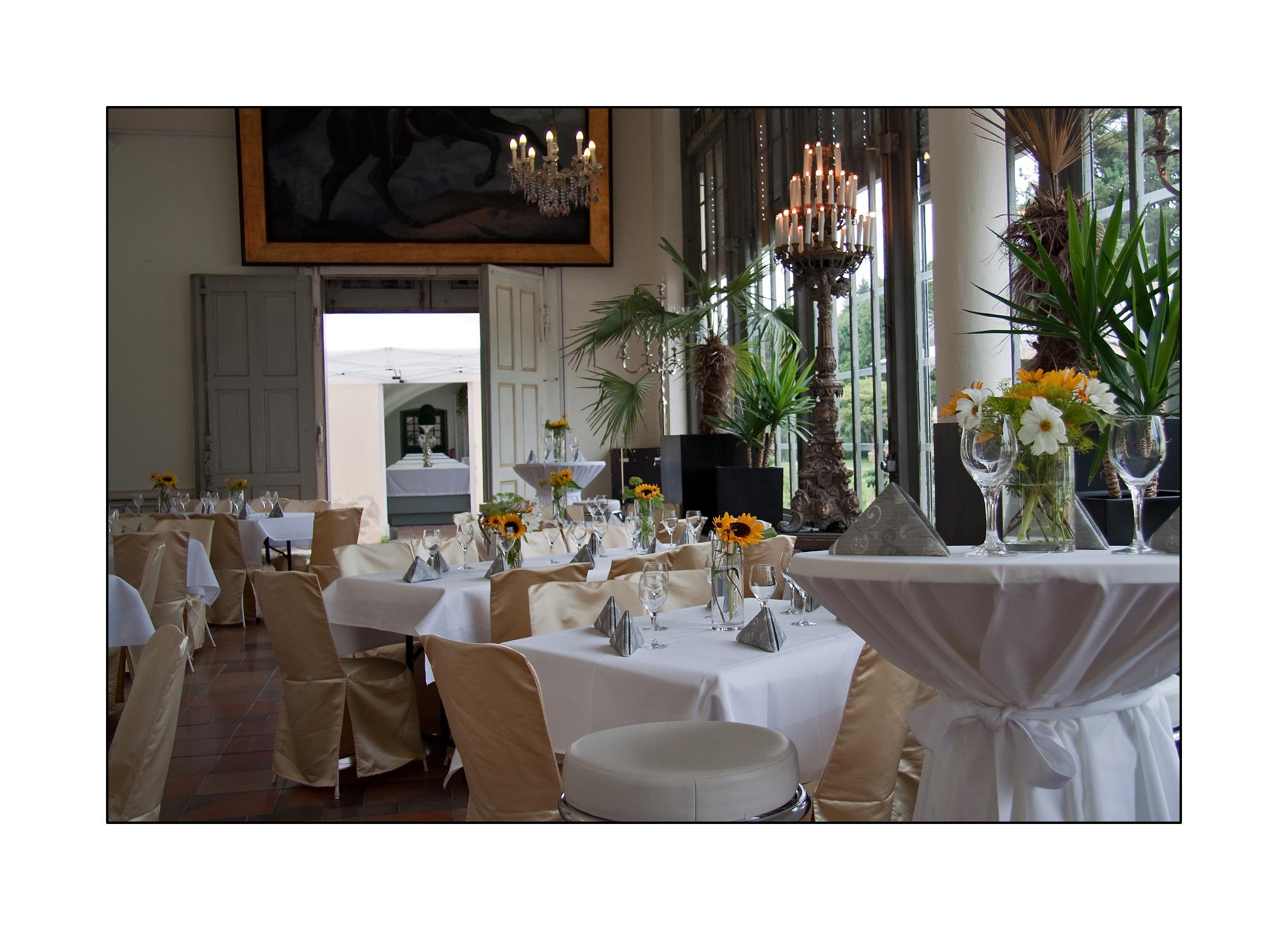 Schlosscafé im Palmenhaus, Konfirmation
