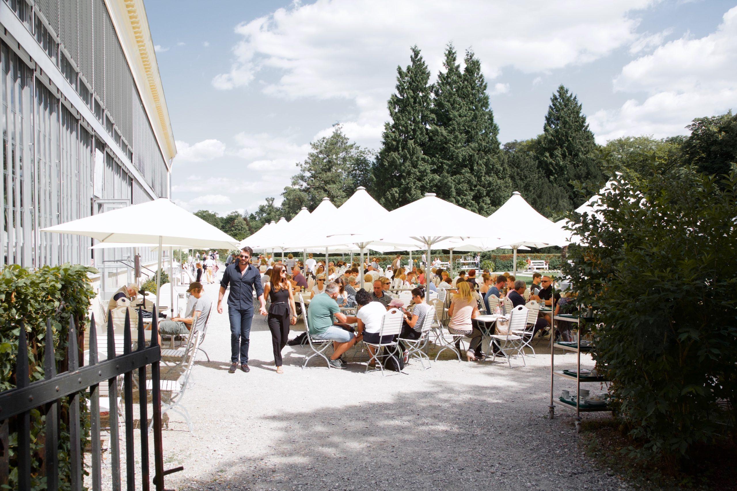Terrasse, Schlosscafé im Palmenhaus