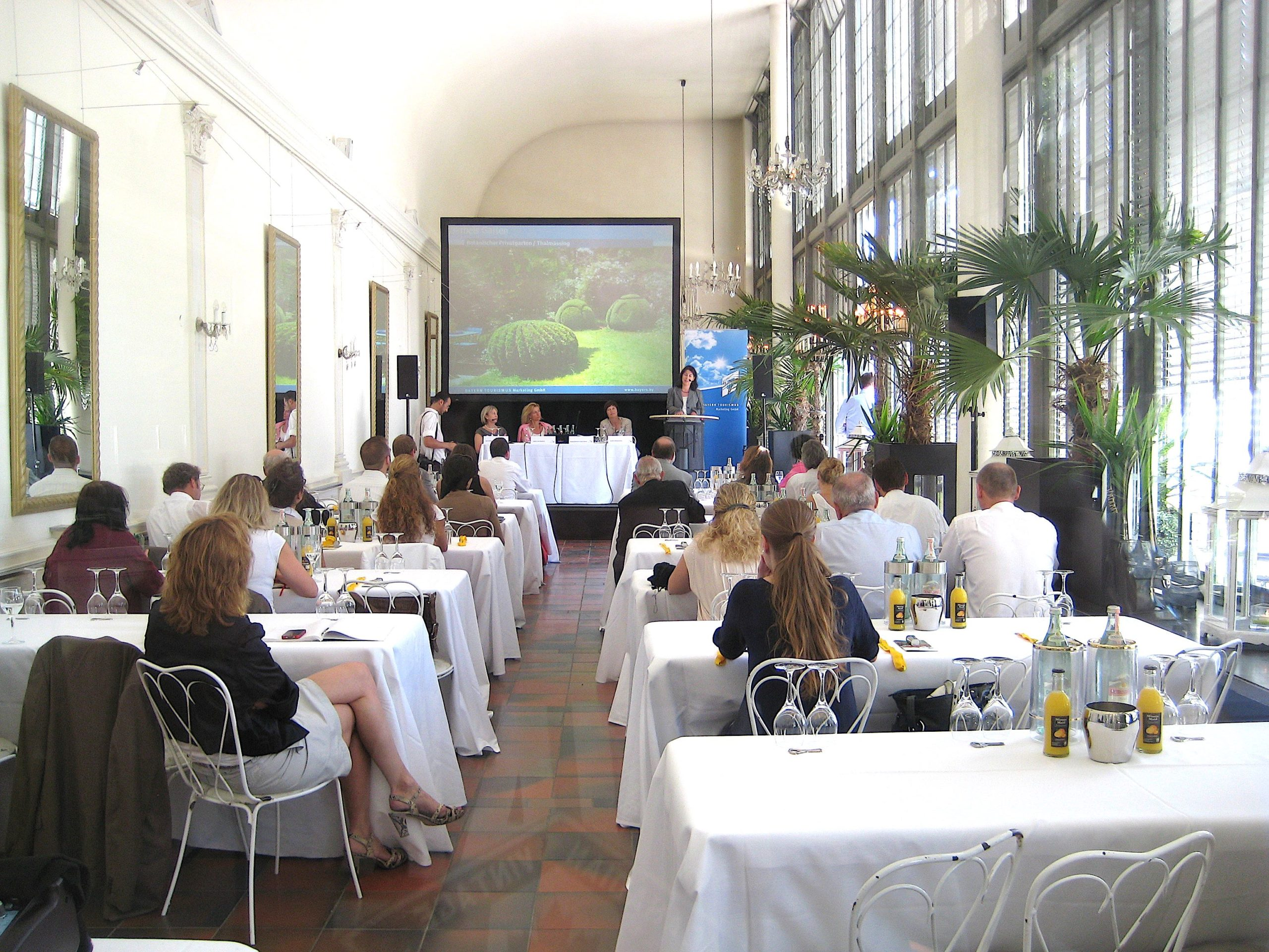 Tagung, Schlosscafé im Palmenhaus